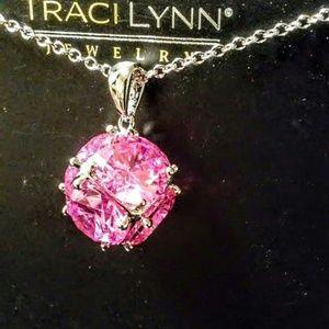 Pink orbit necklace